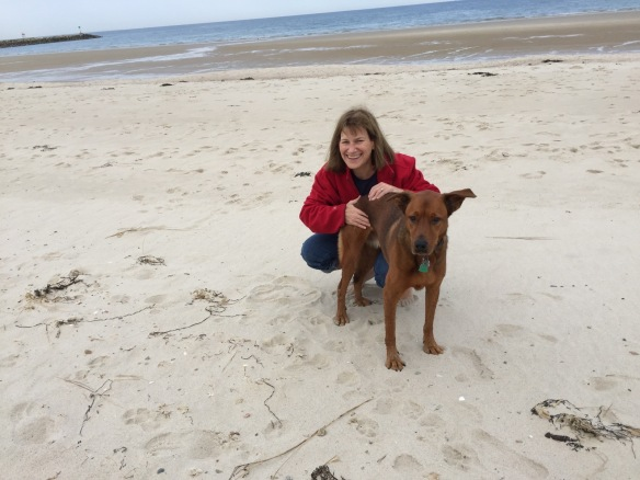 me and stella on beach